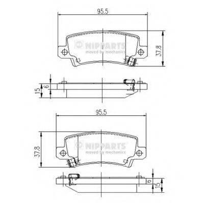 Комплект тормозных колодок, дисковый тормоз NIPPARTS J3612025