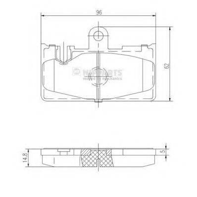 Комплект тормозных колодок, дисковый тормоз NIPPARTS J3612029