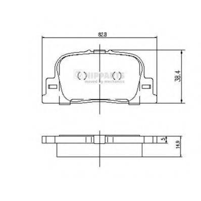 Комплект тормозных колодок, дисковый тормоз NIPPARTS J3612032