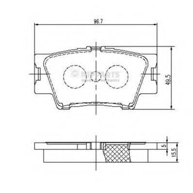 Комплект тормозных колодок, дисковый тормоз NIPPARTS J3612035