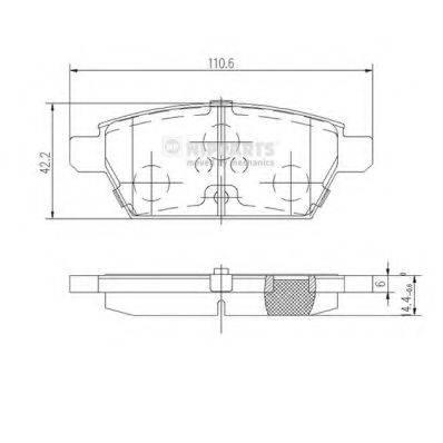 Комплект тормозных колодок, дисковый тормоз NIPPARTS J3613019