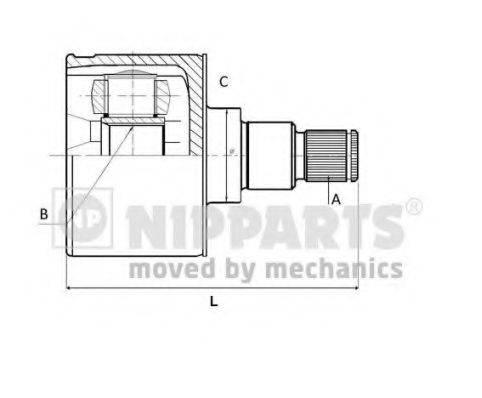 NIPPARTS N2830900 Шарнирный комплект, приводной вал
