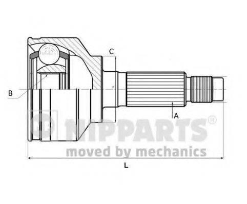 NIPPARTS J2820905 Шарнирный комплект, приводной вал
