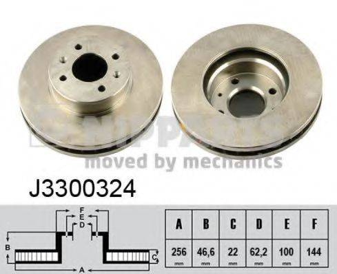 Тормозной диск NIPPARTS J3300324
