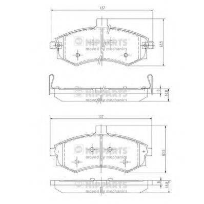 Комплект тормозных колодок, дисковый тормоз NIPPARTS J3600535