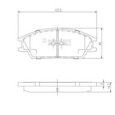 Комплект тормозных колодок, дисковый тормоз NIPPARTS J3604020
