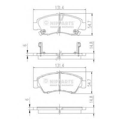 Комплект тормозных колодок, дисковый тормоз NIPPARTS J3604034