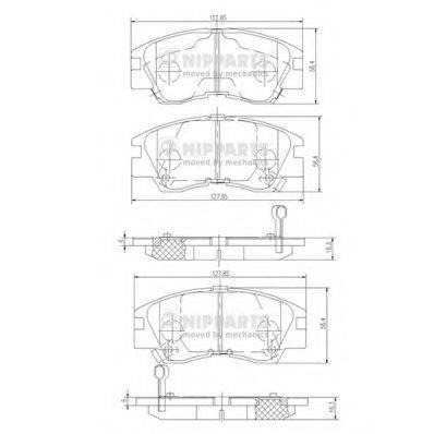 Комплект тормозных колодок, дисковый тормоз NIPPARTS J3605027