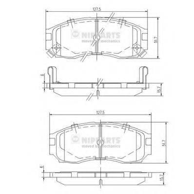 Комплект тормозных колодок, дисковый тормоз NIPPARTS J3605030