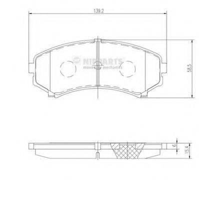 Комплект тормозных колодок, дисковый тормоз NIPPARTS J3605039