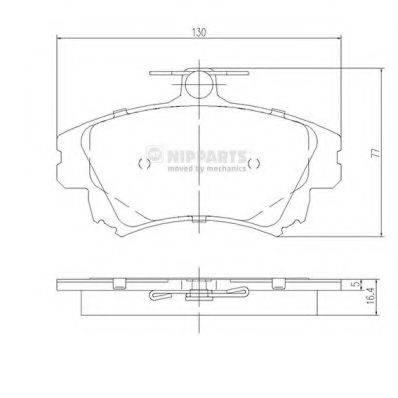 Комплект тормозных колодок, дисковый тормоз NIPPARTS J3605042