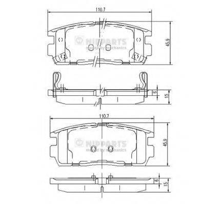 Комплект тормозных колодок, дисковый тормоз NIPPARTS J3610905