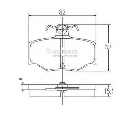 Комплект тормозных колодок, дисковый тормоз NIPPARTS J3611031