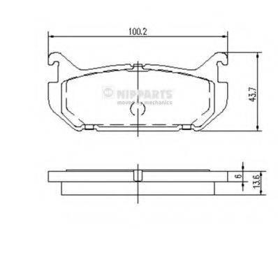 Комплект тормозных колодок, дисковый тормоз NIPPARTS J3613007