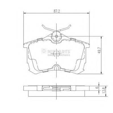 Комплект тормозных колодок, дисковый тормоз NIPPARTS J3614015