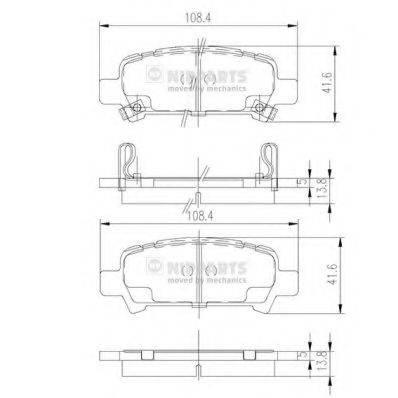 Комплект тормозных колодок, дисковый тормоз NIPPARTS J3617002