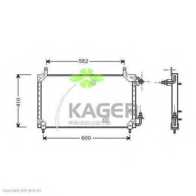 KAGER 945096 Конденсатор, кондиционер