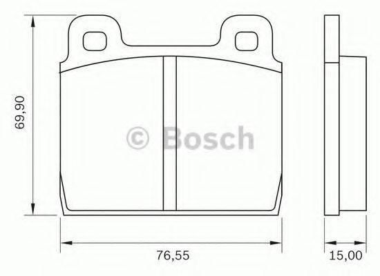 BOSCH 0986BB0022 Комплект тормозных колодок, дисковый тормоз