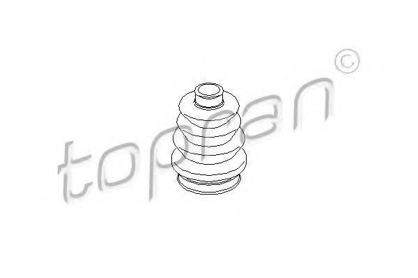 Пыльник, приводной вал TOPRAN 200 516