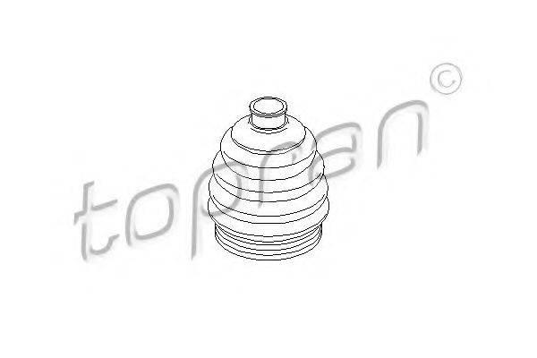 Пыльник, приводной вал TOPRAN 200 534