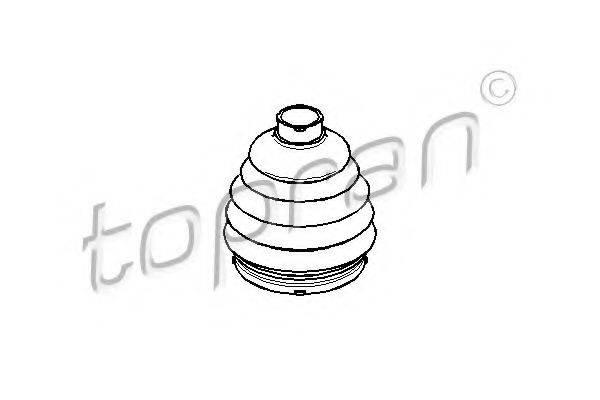 Пыльник, приводной вал TOPRAN 200 537