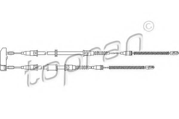 Трос, стояночная тормозная система TOPRAN 200 864