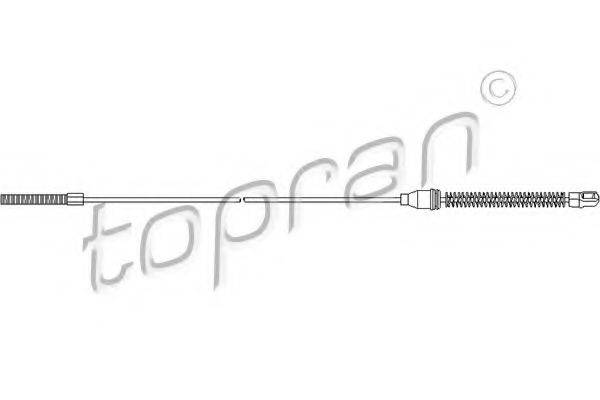 Трос, стояночная тормозная система TOPRAN 200 876