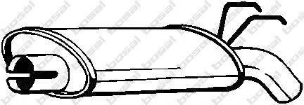 Глушитель выхлопных газов конечный BOSAL 200-499