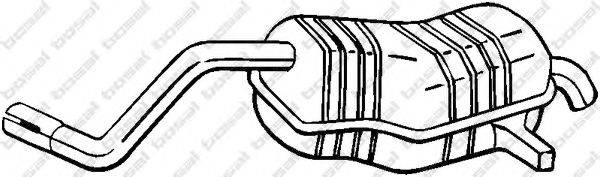 Глушитель выхлопных газов конечный BOSAL 200-515