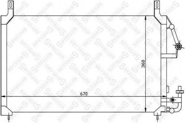 STELLOX 1045017SX Конденсатор, кондиционер
