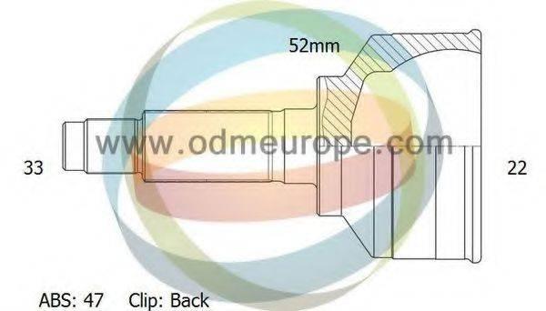 ODM-MULTIPARTS 12001468 Шарнирный комплект, приводной вал