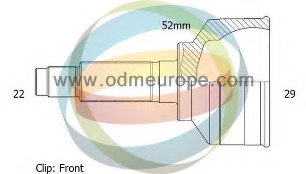ODM-MULTIPARTS 12001701 Шарнирный комплект, приводной вал