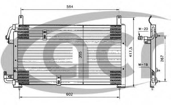 ACR 300246 Конденсатор, кондиционер