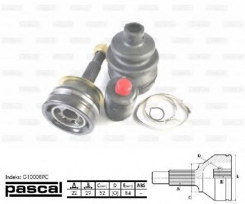PASCAL G10008PC Шарнирный комплект, приводной вал