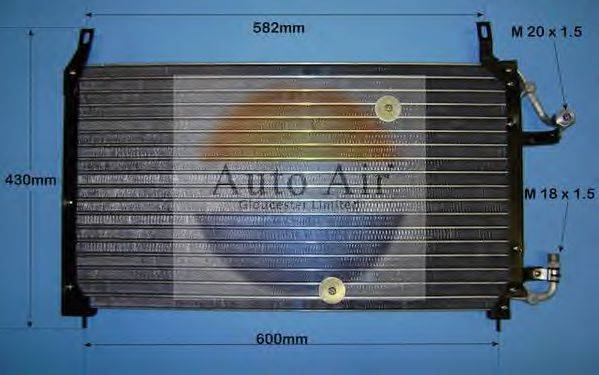 AUTO AIR GLOUCESTER 169757 Конденсатор, кондиционер
