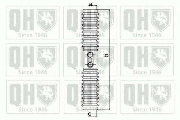 QUINTON HAZELL QG1257 Комплект пылника, рулевое управление