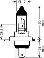 OSRAM 64193NBU Лампа накаливания, фара дальнего света; Лампа накаливания, основная фара; Лампа накаливания, противотуманная фара; Лампа накаливания, основная фара; Лампа накаливания, фара дальнего света; Лампа накаливания, противотуманная фара