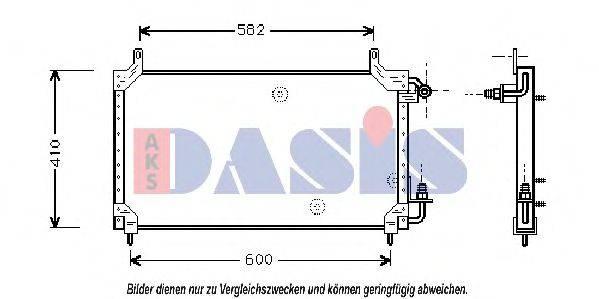 AKS DASIS 512010N Конденсатор, кондиционер