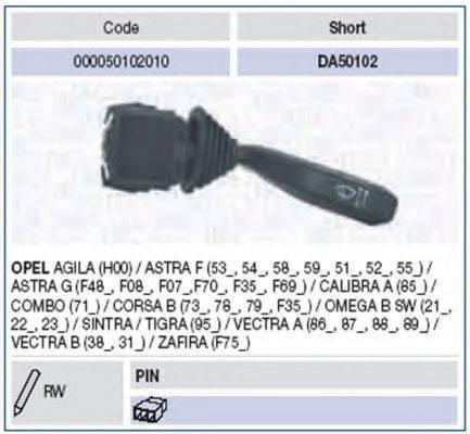 Выключатель на колонке рулевого управления MAGNETI MARELLI 000050102010