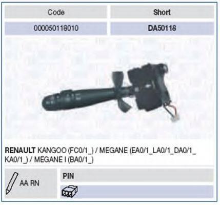 Выключатель на колонке рулевого управления MAGNETI MARELLI 000050118010