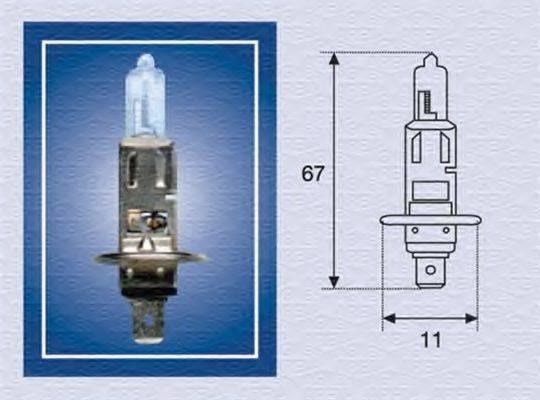 Лампа накаливания, фара дальнего света; Лампа накаливания, основная фара; Лампа накаливания, противотуманная фара; Лампа накаливания MAGNETI MARELLI 002552100000