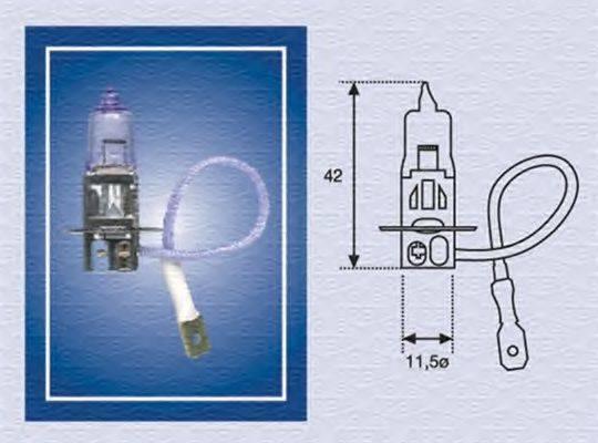 Лампа накаливания, противотуманная фара; Лампа накаливания MAGNETI MARELLI 002554100000