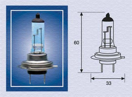 Лампа накаливания, фара дальнего света; Лампа накаливания, основная фара; Лампа накаливания, противотуманная фара; Лампа накаливания MAGNETI MARELLI 002557100000