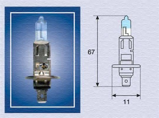 Лампа накаливания, фара дальнего света; Лампа накаливания, основная фара; Лампа накаливания, противотуманная фара; Лампа накаливания MAGNETI MARELLI 002587100000