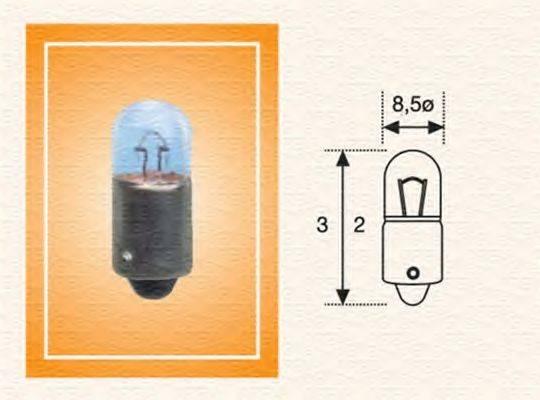 Лампа накаливания, задний гарабитный огонь; Лампа накаливания, стояночные огни / габаритные фонари; Лампа накаливания MAGNETI MARELLI 002894200000