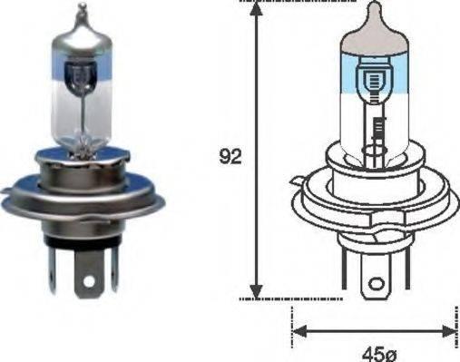 Лампа накаливания, фара дальнего света; Лампа накаливания, основная фара; Лампа накаливания MAGNETI MARELLI 002585100000
