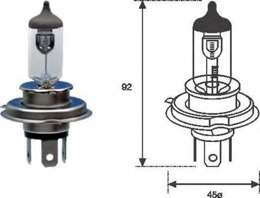 Лампа накаливания, фара дальнего света; Лампа накаливания, основная фара; Лампа накаливания MAGNETI MARELLI 002555100000